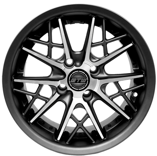 RIM PACKAGE -  AXIS STREET WHEEL 14x7 MATTE GREY/MATTE MACHINED  WITH 225/30-14  STREET TYRES - SET OF 4