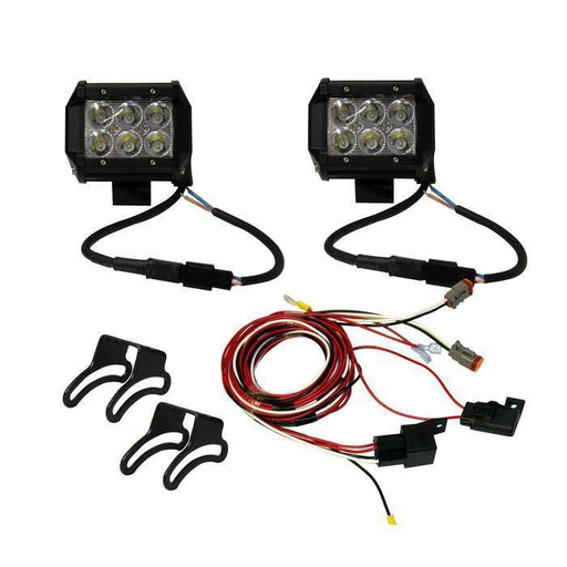 4 inch Dual LED Light Bars with Dual Harness