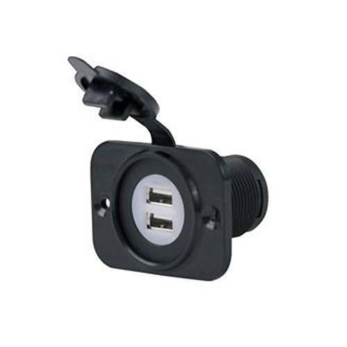 12V Dual USB Port Charger Receptacle