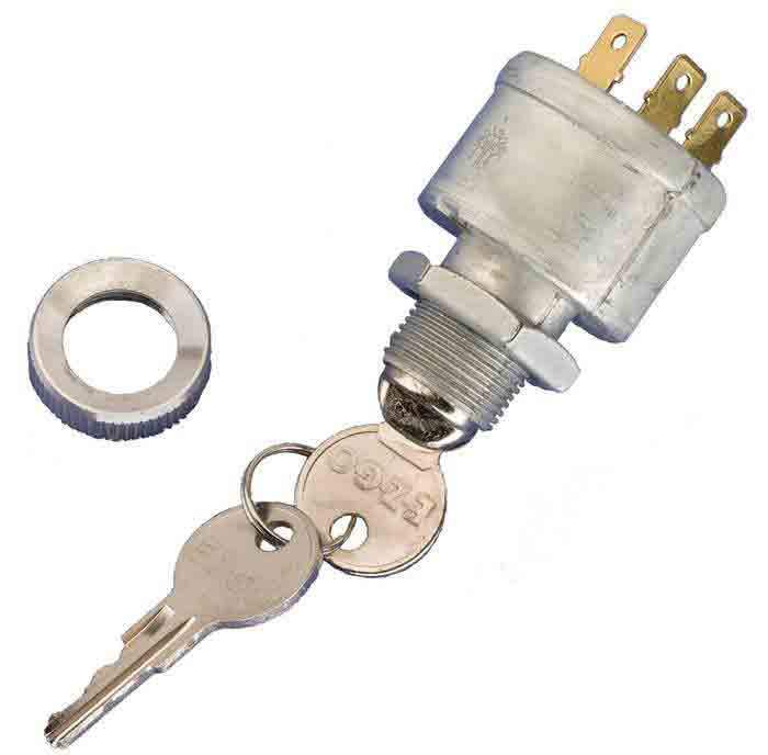 Ignition Switch For Carts w/ Lights | Standard Keys