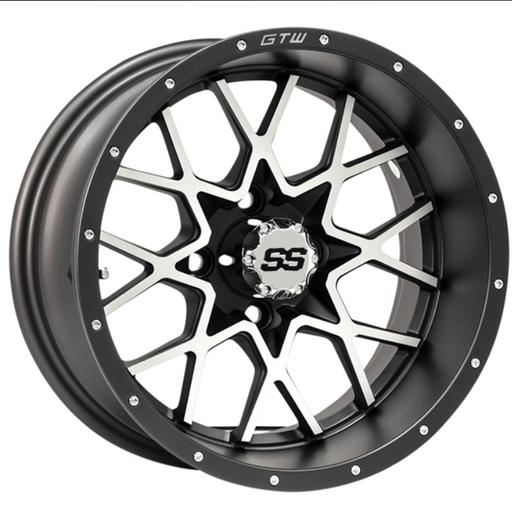 RIM PACKAGE -  VORTEX 2 WHEEL 12x7 MATTE GREY/MATTE MACHINED  WITH 215/35-12  STREET TYRES - SET OF 4