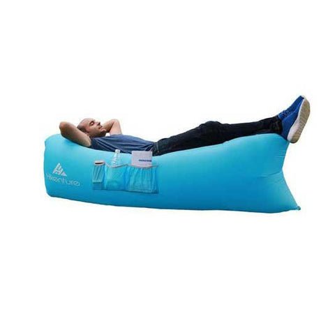 Hikenture 2nd Generation Air Lounger Lightweight 2.2lbs, with a Portable Carry Bag (Blue)