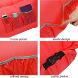 Hikenture Inflatable Lounger 2nd Generation Design ,Lightweight with a Portable Carry Bag(Red)