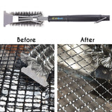 Hikenture® BBQ Grill Brush Cleaning Brush | BBQ Brush with Food Grade 304 Stainlesssteel | Efficient BBQ Grill Cleaner| Grill Scraper | Perfect Grilling Accessories for Char Broil, Weber, Porcelain and Infrared Grill