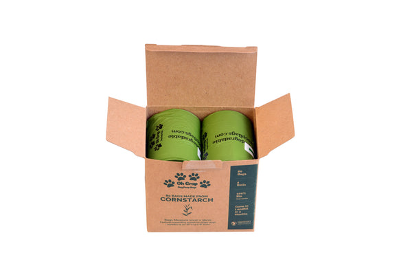 Oh Crap Non Plastic Biodegradable Dog Poop Bags - 2 Month Pack