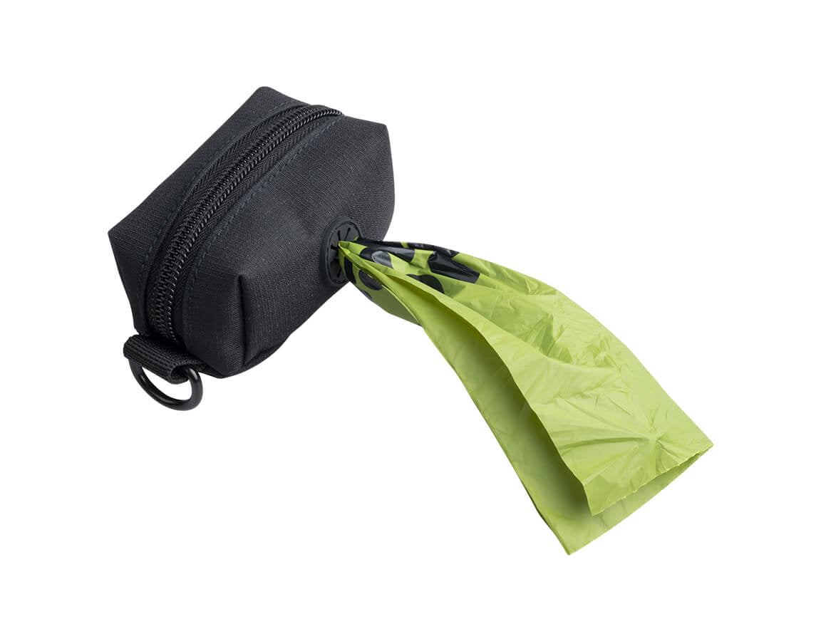 An image of the the holder that comes with the Oh Crap Non Plastic Biodegradable Compostable Dog Poop Bags 1 Month Pack