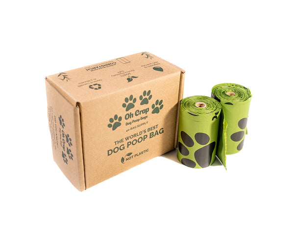 Oh Crap Non Plastic Biodegradable Dog Poop Bags 1 Month Pack Box