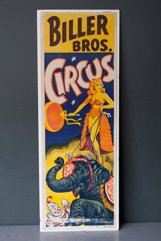 Biller Bros 1952 Advertising Circus Poster (original)