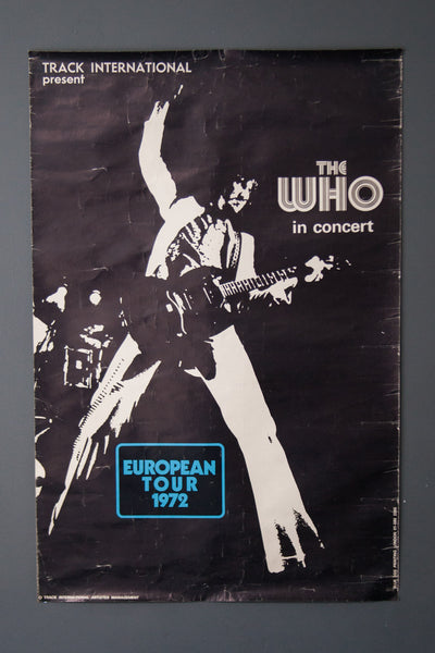 The Who 1972 European Tour Poster (original)