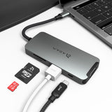 CASA Hub A08 USB-C Hub 8-in-1n - Space Gray