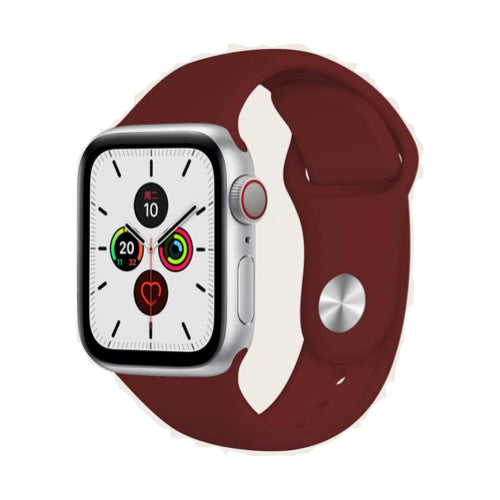Apple Watch Strap 42/44mm - Silicone - Burgundy