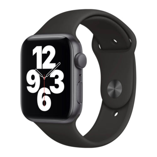 2020 Apple Watch SE (44mm, Space Gray Aluminium with Black Sports Band, GPS) - New - Mac Shack