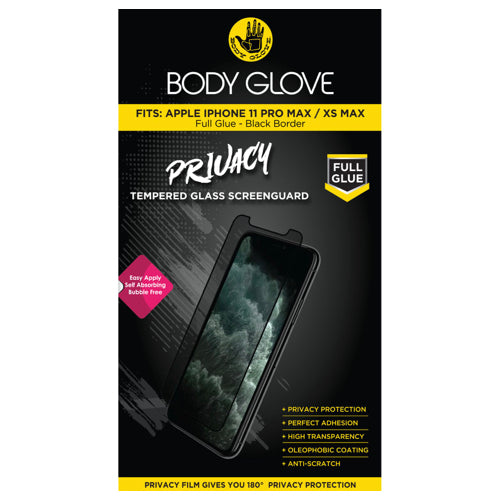 Body Glove Privacy Tempered Glass Screen Protector – Apple iPhone 11 Pro Max