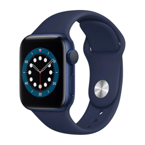 Apple Watch Series 6 (44mm, Blue Aluminium with Deep Navy Sports Band, GPS & Cellular) - New - Mac Shack
