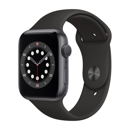 Apple Watch Series 6 (44mm, Space Gray Aluminium with Black Sport Band, GPS) - New - Mac Shack