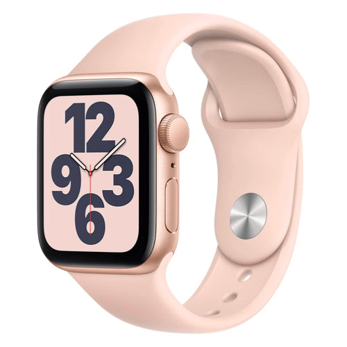 2020 Apple Watch SE (40mm, Gold Aluminium with Pink Sand Sports Band, GPS) - New - Mac Shack