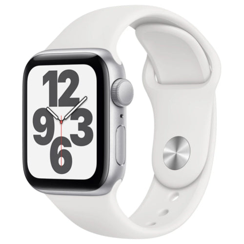 2020 Apple Watch SE (40mm, Silver Aluminium with White Sports Band, GPS) - New - Mac Shack