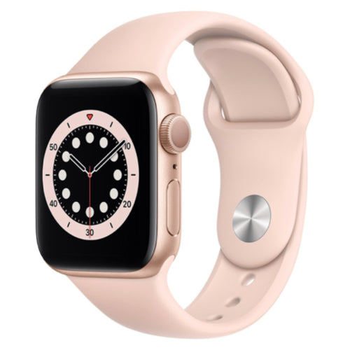Apple Watch Series 6 (40mm, Gold Aluminium with Pink Sand Sport Band, GPS) - New - Mac Shack