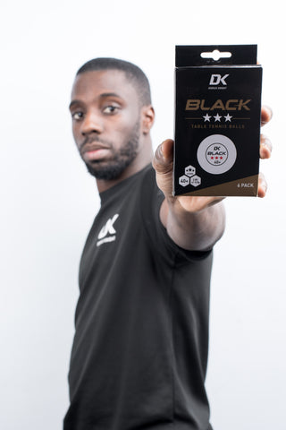 DK Black 40+ 3* Table Tennis Balls 6 Pack - DKSportsgoods