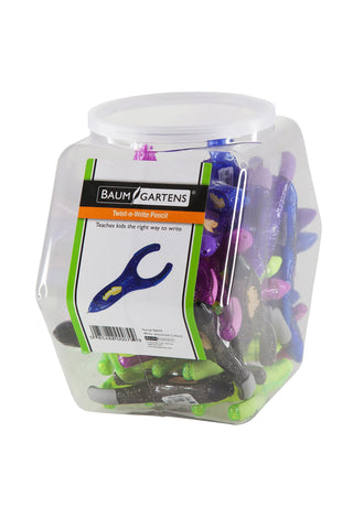 PenAgain Twist 'n Write Hexagonal Tub Display of 48 Arthritis Ehlers Danlos Syndrome ASSORTED Colors (00079)