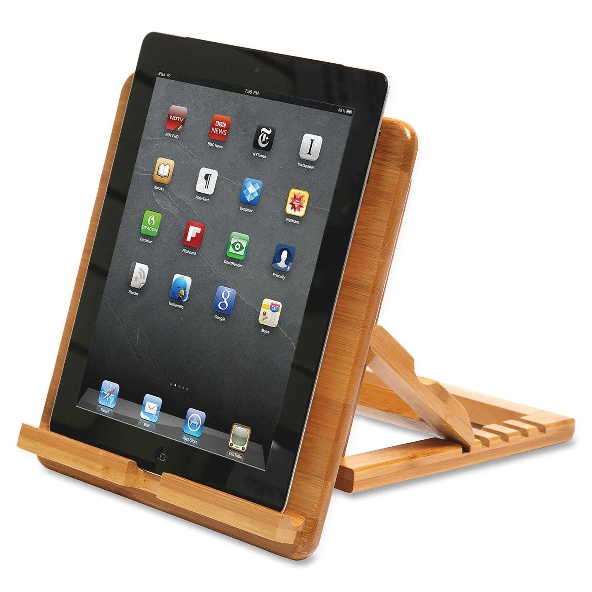 ... Qi Bamboo Kitchen Tablet IPad Cookbook Recipe Book Holder Stand (10426)  ...