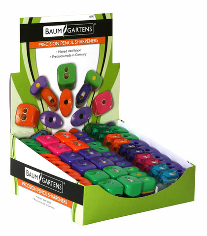 Baumgartens Retail Display Kit Pencil Sharpener ASSORTED Colors (15592)