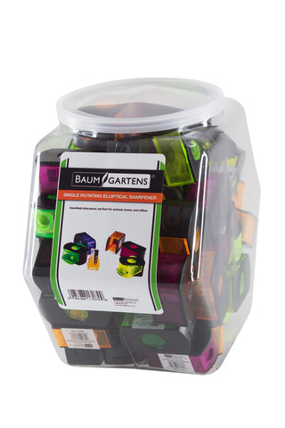 Baumgartens Eclipse Pencil Sharpener Single Hole ASSORTED Colors (17079)