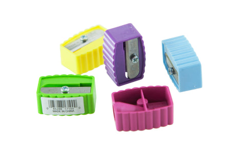 Baumgartens Ridge Pencil Sharpener Single Hole ASSORTED Colors (17100)