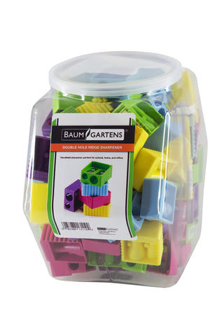 Baumgartens Ridge Pencil Sharpener Double Hole ASSORTED Colors (17119)