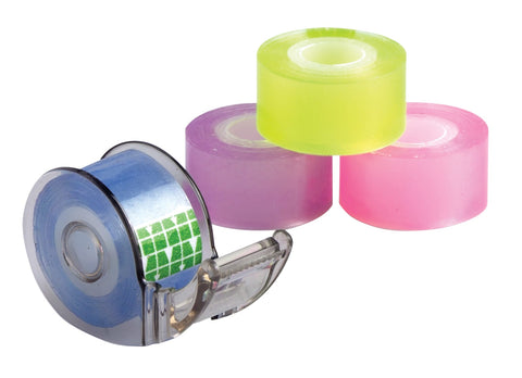 Baumgartens Mini Tape and Dispenser ASSORTED Colors (20340)