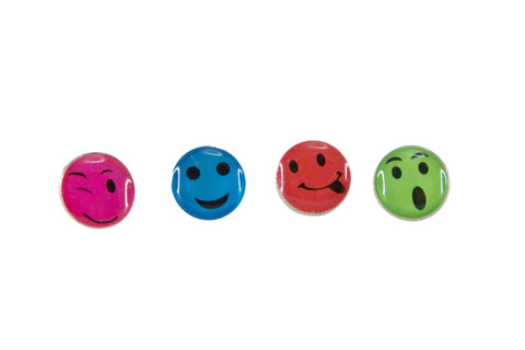 Baumgartens Smiley Face Smiley Face Pushpins 16 Pack ASSORTED Colors (29830)