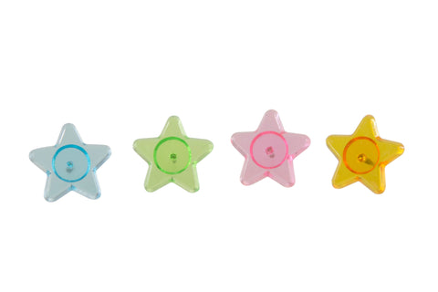 Baumgartens Star Shaped Star Shaped Pushpins 16 Pack ASSORTED Colors (29840)