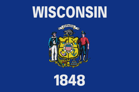 "Integrity Flags Wisconsin State Flag 36"" x 60"" (33568)"