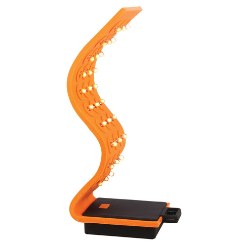 Mobile Ops Magnetic Silicone Orange 30 LED Flex ORANGE Flashlight 3 Functions Handsfree (42670)