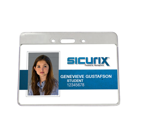SICURIX Proximity Badge Holders Horizontal 50 Pack CLEAR (47810)