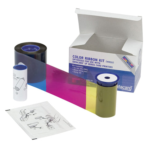 SICURIX Datacard 534000 002 Color Ribbon & Cleaning Kit YMCKT 250 prints (534000-002)