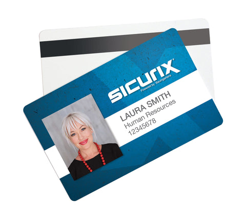 SICURIX CR 80 with Hico Magnetic Stripe Blank ID Cards 30 mil 100 Pack WHITE (80340)
