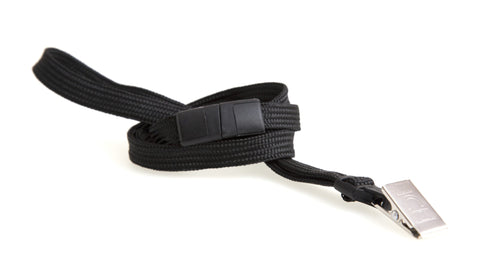 SICURIX Lanyard BLACK BD Clip 12 Pack (65524)