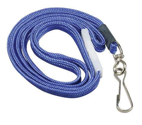 SICURIX Breakaway Safety Lanyards Hook Flat Style 12 Pack BLUE (65543)