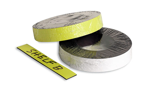Zeüs Magnetic Label Tape Industrial Durable Self-Adhesive Flexible Roll Refill 50' YELLOW (66157)