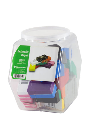 Zeüs Rectangular Magnets Hexagonal Tub Display of 60 ASSORTED Colors (66359)