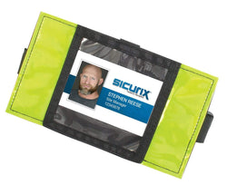 SICURIX Reflective Safety Armband Badge Holder Horizontal BLACK (66850)