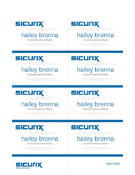 "SICURIX Printable Badge Inserts 3 1/2"" x 2 1/4"" 56 Pack (67660)"