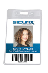 SICURIX Badge Holder Horizontal 50/pack (67825)