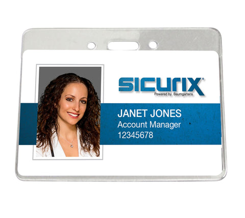 SICURIX Government/Military Size Badge Holders Horizontal 50 Pack CLEAR (67870)