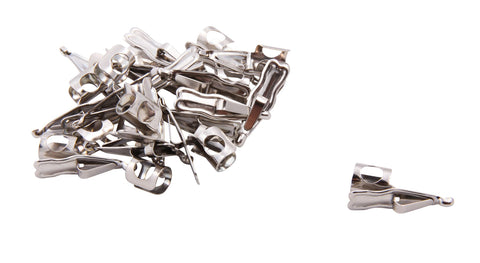 Baumgartens Pencil Clips 100 Pack CHROME (67953)