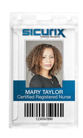 SICURIX Badge Holder PolyCarb Vertical 25 Pack (68140)