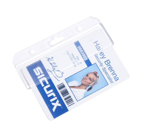 SICURIX Plastic Half Badge Holders (68160)