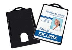 SICURIX Badge Dispensers Vertical 25 Pack BLACK (68320)