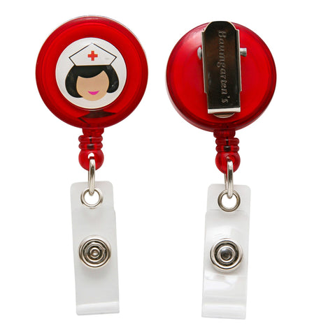 SICURIX Nurse ID Badge Reels Round Belt Clip Strap ASSORTED Colors (68630)